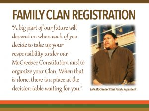 FAMILY CLAN COUNCIL REGISTRATION