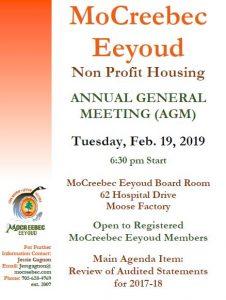 Housing AGM February 19, 2019