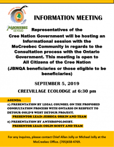 Cree Nation Government Information Meeting
