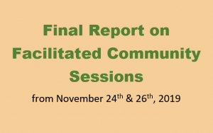 Final Report on Facilitated Community Sessions