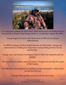 MoCreebec honours the late Deputy Chief George Small Jr.
