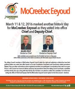 Historic Milestone in MoCreebec Eeyoud history